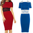 Sexy Womens Ladies Celeb Floral Lace Party Bodycon Evening Cocktail Formal Dress