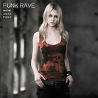 T349 Punk Rave Visual Kera Gothic Skull Printing Tank Top T-shirt Vest 3colors