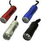 9 ULTRA BRIGHT LED POWERFUL MILITARY CAMPING TORCH FLASHLIGHT LAMP LIGHTS MINI
