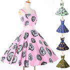 WOMEN HALTER POLKA DOT 50's 60S PINUP ROCKABILLY VINTAGE SWING PROM PARTY DRESS