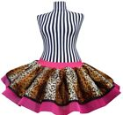 Neon Leopard  Pink Tutu Skirt 80's Fancy Dress Accessory Hen Party 1980's +