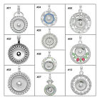 1PC Charm Pendant Fit Snap Buttons Round Rhinestone