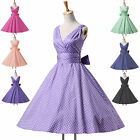 VTG 50s 100% Cotton Housewife Cocktail Prom Evening Party Casual Pinup NEW Dress