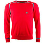 Mens Designer Duck And Cover Mens Forel Knitted Jumper In Mars Red S-XL
