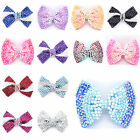 Quality Large Size New Fashion Shiny Brand New Diamante Crystal Bow Hair Clip