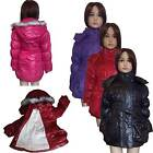 New Girls Jacket  Winter WARM Lined/Coat Faux Fur Detachable Hood 4-14yrs #46