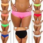 New Womens Ladies Underwear Plain Summer Knickers Panties Briefs Size 8 10 12 14