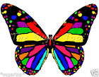 28 Gorgeous Design Rainbow Coloured Butterflies Edible Cup Cake Toppers