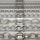 Metal Chains Silver plated chains craft DIY extension bracelets necklace