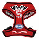 Soft Mesh Dog Harness from Hip Doggie. Red Racing Pitcrew