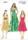 Very Easy Vogue 9001 Sun Flared Maxi Dress Scoop Neck Sewing Pattern V9001