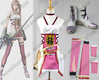 Final Fantasy XIII-2 FF 13 Serah Farron Cosplay Costume+Shoes Full Set Outfit