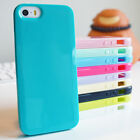 Soft Slim Glossy Silicone Gel TPU Bumper Cover Case for iPhone 4 5 5C 6 7 8 Plus