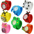 Kids Girls Boys 3D Cartoon Animals Silicone Snap Wrist Watch Xmas Brithday Gift