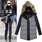 New Winter Ladies Hooded Parka Faux Fur Long Zip Jacket Coat Size 8 10 12 14 16