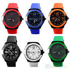 Men's Hot Charm Silicone Rubber Jelly Band Sport Quartz Analog Wrist Watch