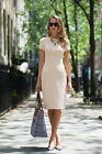 ZARA BEIGE NUDE KNEE LENGTH DRESS SIZE S_ M_L