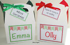 Personalised Christmas wedding Activity Box Party Gift Bag Present BUNTING