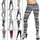 New Womens Ladies Animal Check Side Panel Print Full Leggings Size S M L XL XXL
