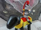 Halloween Dog Costume Knight Jouster Rider Bobble Head Red Yellow Gray New Tags