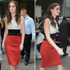 New Women OL Celebrity Contrast Pencil Slim Bodycon Party Cocktail Pencil Dress
