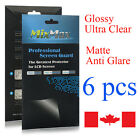 6 x Clear or Matte Anti Glare Screen Screen Protector for iphone Samsung HTC LG