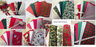 "Christmas Fat 1/4 Fabric pack + 5 metres of 1"" Bias Binding/bunting tape"