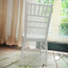 New Organza Lace Embroidery Chiavari Chair Cover Wedding Anniversary Party Decor