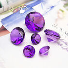Crystal Purple Diamond Confetti Wedding Party Favor Paperweight Scatter Decor