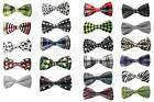 Classic Solid Satin Mens Adjustable Tuxedo Bowtie Wedding Party Bow Tie Necktie