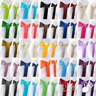 100 pieces Wedding Party Banquet 6x108inch Satin Chair Cover Sash Bow COLORS