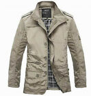 2014 New Men's Jacket Coat Slim Clothes Winter Warm Overcoat Casual Outwear