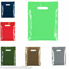 "NEW HEAVY DUTY COLORED PLASTIC CARRIER BAGS PARTY GIFT BAGS SIZE 10"" X 12"""