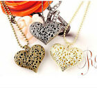 Fashion heart-shaped charm hollow carve long necklace of the great charm of Gift