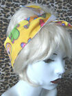 ROCKABILLY YELLOW REVERSIBLE PINATA MEXICAN HAIR WRAP HEAD SCARF
