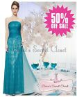 BNWT JAYNE Teal Turquoise Lace Long Prom Evening Bridesmaid Dress 8 -18