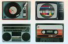 RETRO PLACEMAT-TV CARD/RECORD/CASSETTE TAPE/RADIO-NOVELTY DINING PLACE MAT/MATS
