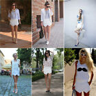 Fashion Asymmetric Tiered Culottes Women Shorts With Invisible Zipper Pant XS_XL