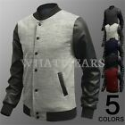 Top Mens Stylish PU Leather Splicing Coat Fashion Jacket 5 Color 9707 M~XXL IND