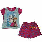 Disney Frozen Elsa and Anna Girl summer 2pcs Pyjamas Pajamas Set SZ 2,3,4,5,6,8
