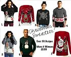 New Mens Christmas Jumper Xmas Novelty Fairisle Knitted Sweater Ladies Cute 8-16