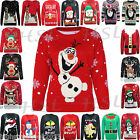 LADIES WOMENS MENS XMAS CHRISTMAS NOVELTY VINTAGE 70'S JUMPER RETRO SWEATER