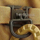 2X 360° ROTATION D BUCKLE RING MOLLE TACTICAL WEBBING LOCKING BACKPACK CARABINER