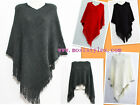 New Women Poncho Batwing Cape Top Cardigan Casual Everyday Wear Sweater Coat