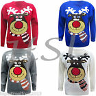 MENS WOMENS LADIES CHRISTMAS XMAS NOVELTY JUMPER SWEATER REINDEER SNOWMAN SANTA