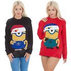 New Stuart Minion Despicable Me Womens Mens Novelty Xmas Jumper Size 8 10 S M L