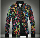 Men's Fashion Skull Printed Bright Colorful Casual Long Sleeve Jackets MWJ543