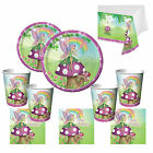 Garden Fairy Girls Essential Birthday Party Kits Plates Cups for 8 - 40 Guests!