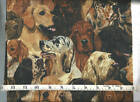 """hunting dog cotton 44"""" wide by various sizes"""