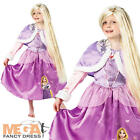 Rapunzel Princess + Wig Girls Fancy Dress Disney Kids Childs Costume Outfit New